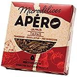 Microdélices Insectes Comestibles Apéro 250 Tapas Mélange de Grillons/Vers de Farine 10 g -