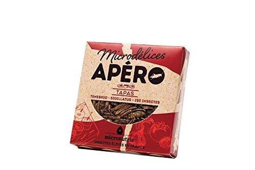 Micronutris Insectes comestibles - Apéro 250 Tapas mélange de grillons et vers de farine