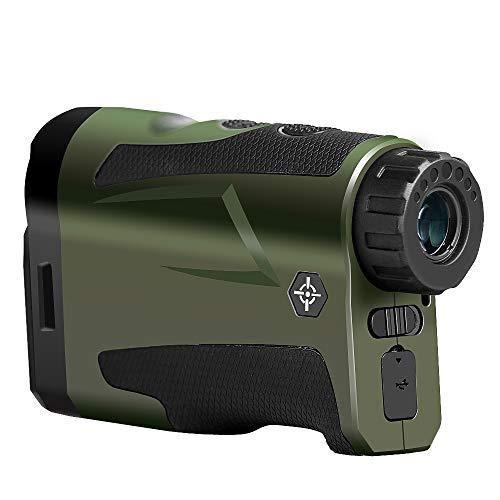 YELLOL 1000M Golf-Entfernungsmesser, Entfernungsmesser Mit Pinsensor, Multifunktions-6X22-Entfernungsmesserteleskop Für Die Jagd Entfernung Winkel Höhe Geschwindigkeit Entfernungsmesser