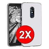 TBOC 2X Transparent Gel TPU Hülle für Alcatel 3L [5.5 Zoll] [Pack: Zwei Einheiten] Ultradünn Flexibel Silikon Gehäuse für Handy