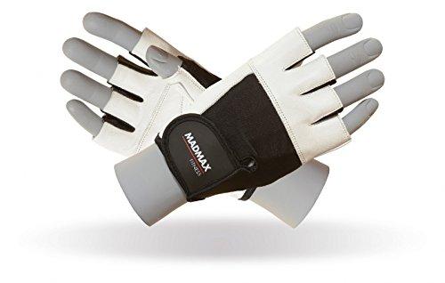 Madmax Fitness Handschuhe Gym Gewichtheben Handschuhe Unisex Bodybuilding Workout Sports Trainingshandschuhe (XL, White/Black)