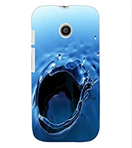ColourCraft Beautiful Water Effect Design Back Case Cover for MOTOROLA MOTO E