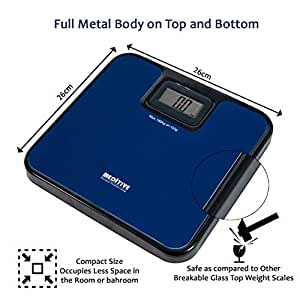 MEDITIVE Digital Human Weighing Scale for Body weight, Durable Unbreakable Metal Platform, Not made of Glass, (Minimum Weight: 7Kg, Maximum Weight: 180 Kg)
