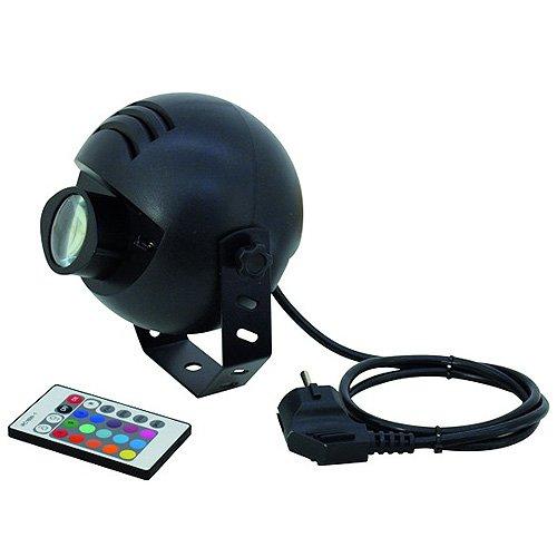 Eurolite LED PST-9W TCL FB Spot | LED-Pinspot mit RGB-Farbmischung und Infrarot-Fernbedienung | Perfekt für die Beleuchtung von Discokugeln