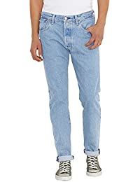 Levis Hombre 501 Customized Tapered Livorano Jeans, Azul