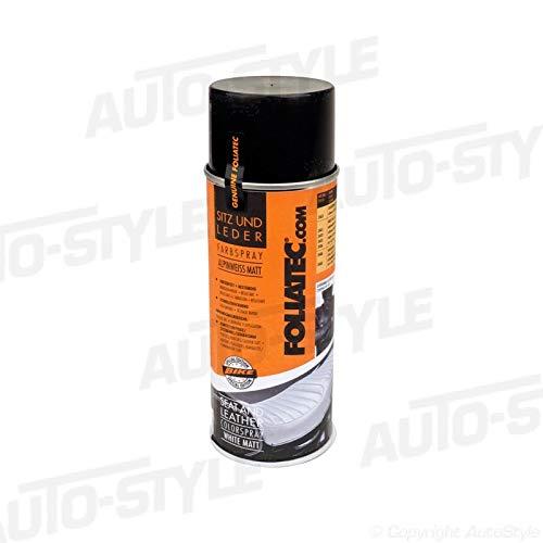 Foliatec F2402 Seat und Leather Color Spray, 1 x 400 mL Schwarz/Matt