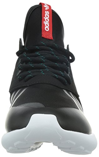 adidas Originals Tubular Runner Weave Herren Hohe Sneakers Schwarz / Rot / Weiß