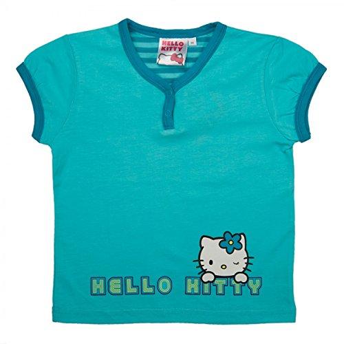 Hello Kitty T-Shirt Top Mädchen, Jungen | Kurzarm | Pink oder Blau | Blau | Größe 80 (Mädchen Für Hello Kitty Sweatshirt)