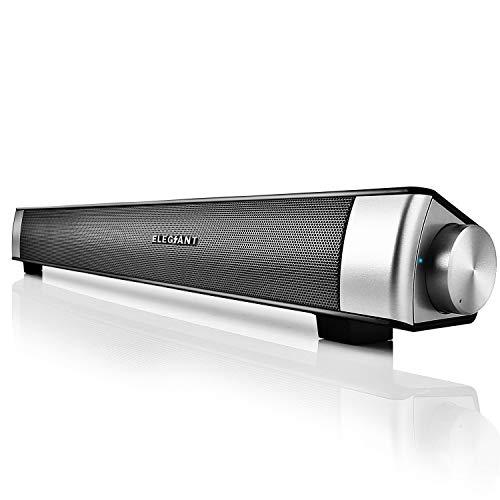Altavoz Bluetooth, ELEGIANT Barra de sonido Estéreo Inalámbrico 10W Subwoofer con Micrófono...