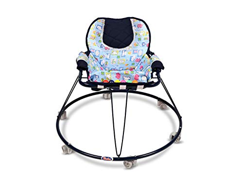 Shabu Baby Walker (Push Chair) 2 in 1 - Model No.14A Age Group [ 8-24 Months ] (Oxford Blue))