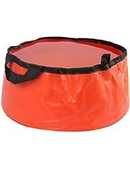 Sports de plein air pliable Lavabo Lavabo Footbath sac d'eau évier, rouge