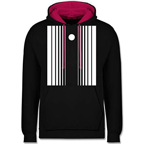 Shirtracer Karneval & Fasching - Doppler-Effekt - XS - Schwarz/Fuchsia - JH003 - Kontrast Hoodie (Herren Sheldon Doppler Effekt Kostüm)