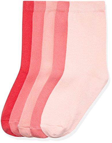 RED WAGON Girl's Plain Pink Shade Calf Socks pack of 5
