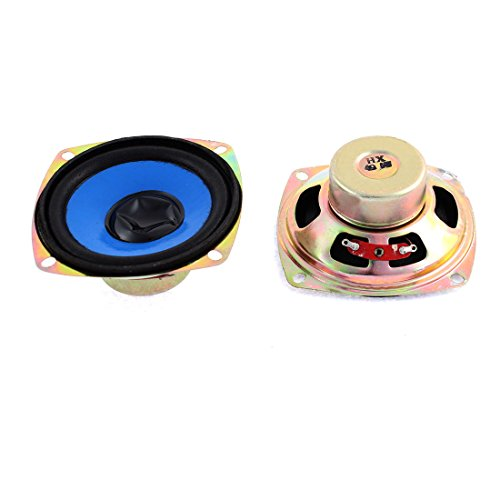 sourcingmap® 2x 5W 4 Ohm quadratisch Magnet Lautsprecher 80x80mm für TV Player Audio