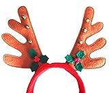 La vogue 3pcs Haarband Rentier Haarreifen Weihnachts Haarschmuck Rot -