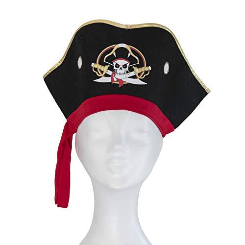 Liontouch 18104LT Captain Cross Piraten Filz Hut | Teil von Kostüm mit ()