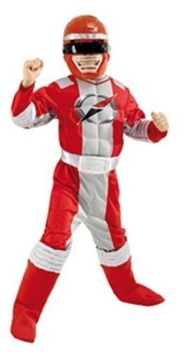 Original Kostüm Power Ranger - Rubies 3883178 - Red Muscle Chest Gr. L