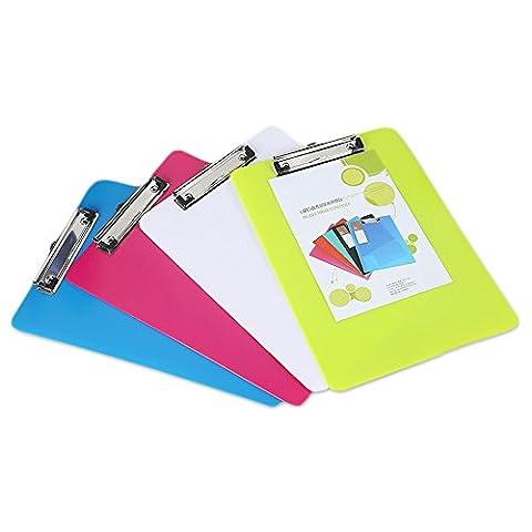 Ya Jin 1pcs papier fichier bloc-notes Plastique documents Clip Support pour tableau à écrire de format A4, couleur aléatoire