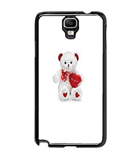 PrintDhaba Teddy Bear D-5599 Back Case Cover for SAMSUNG GALAXY NOTE 3 NEO (Multi-Coloured)