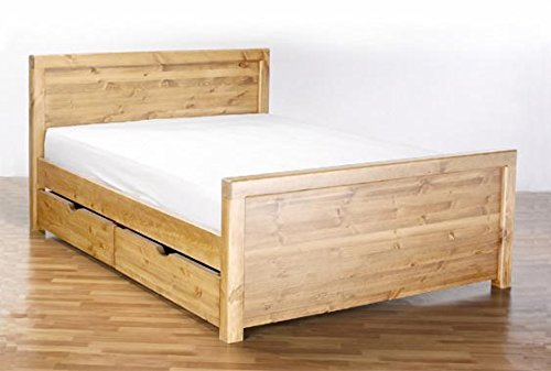 Superking Size 6Ft Taurus Mckenzie With Footboard. Stylish Mckenzie Bed + Raised Footboard (Antique Wax)