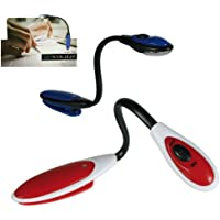 Just Clips On.Easy - Red Book Reading Light - Great Stocking Filler Idea For Children, Kids Boys & Girls Age - + - One Supplied