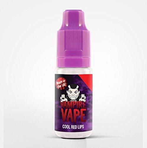Vampire Vape Cool Red Lips - E-Liquid Kirsche - ohne Tabak & Nikotin - kein Verkauf unter 18 Jahren - Nikotingehalt 0 mg - 10 ml