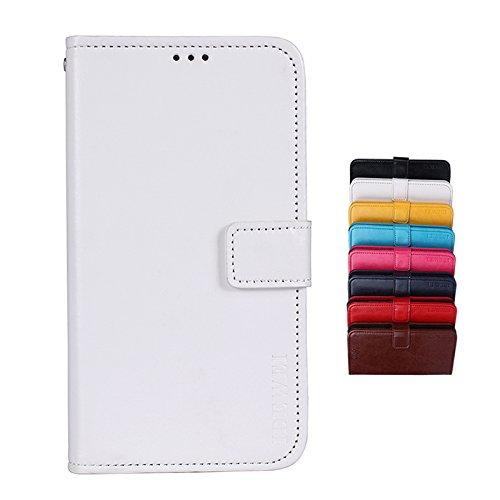 SHIEID® Leagoo M9 Pro Brieftasche Hülle PU+TPU Kunstleder Handyfall für Leagoo M9 Pro mit Stand Funktion EIN Stent-Funktion (Weiß)