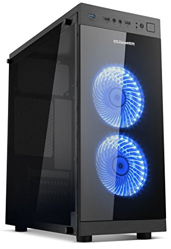 NOX Hummer TGS Mini-Tower Negro Carcasa de Ordenador - Caja de Ordenador (Mini-Tower, PC, SPCC, ATX,Micro-ATX, Negro, Juego)