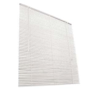 Jago Wooden Venetian Blinds (White, 120x130 cm)