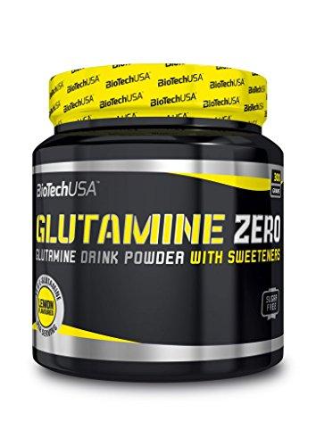 Biotech USA Glutamine Zero, 300g Dose , blaue Traube (5er Pack) (Trauben Pulver Haut)