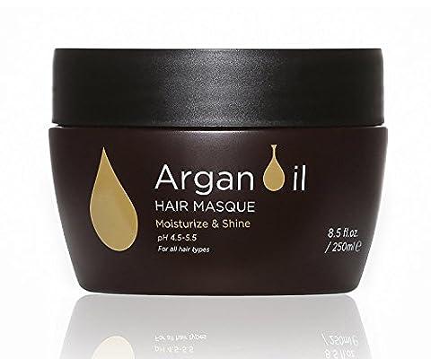 Luseta Argan Oil Hair Mask 250ml Moisturizing Shining Replenishing hair damaged from heat chemicals Sulfate free Phosphate free Paraben free