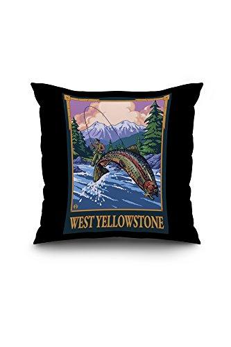 west-yellowstone-montana-fly-fishing-scene-20x20-spun-polyester-pillow-case-white-border