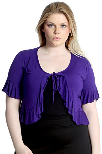 Front Tie Shrug (Nouvelle Collection Frill Shrug Front Tie Purple 18)