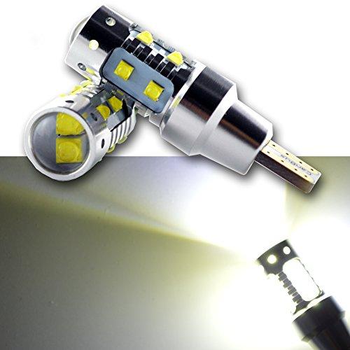 Ruiandsion Lot de 2 ampoules LED Canbus T15 10 SMD CREE 12 à 24 V 6000 K Blanc T15 921 912 LED