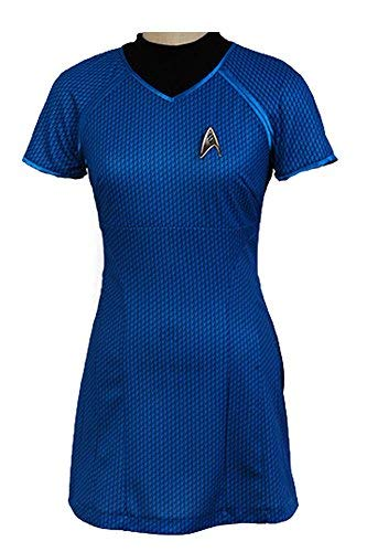 Tollstore Star Trek Into Darkness Marcus Shirt Kleid Uniform Cosplay Kostüm Blau XL