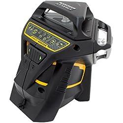 Stanley FatMax Niveau laser X3G, nivellement automatique avec diode verte, lunettes de vision de faisceau laser vertes, chargeur et mallette de transport, 1pièce, FMHT1-77356