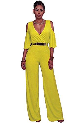 emmarcon Tuta Elegante Pantaloni Lungo Jumpsuit Vestito Abito ... 03bf5a1531c9
