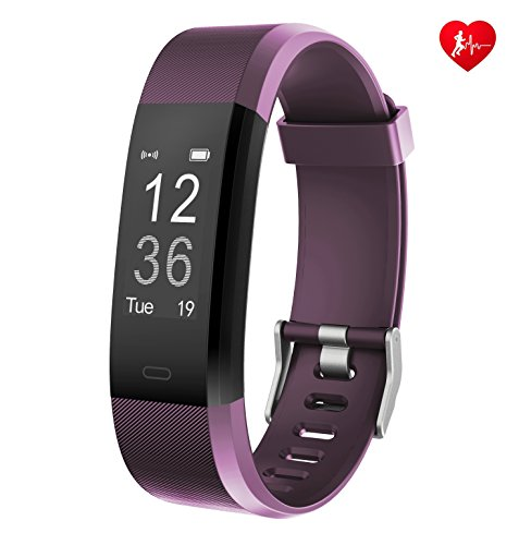 Fitness Tracker Arbily YG3PlUS Herzfrequenz-Monitor Tracker Fitness armband Smart Armband pulsuhr Aktivität Tracker mit Schlaf-Monitor SchrittZähler für Walking / Running / Cycling (violett)