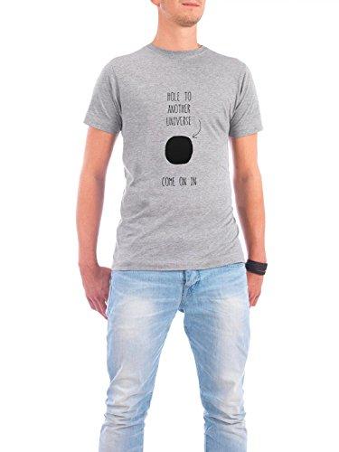 """Design T-Shirt Männer Continental Cotton """"other universe"""" - stylisches Shirt Typografie von Anna Tverdostup Grau"""