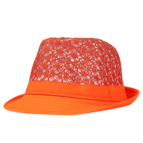 Fcostume Sonnenhut, Packbare atmungsaktive hohle Sonne Sommer Strand Hut kubanischen Trilby Männer Frauen