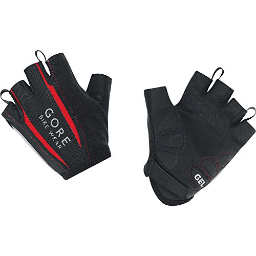 Gore bike wear gspowe power 2.0 guanti, unisex adulto, nero (black/red), 9