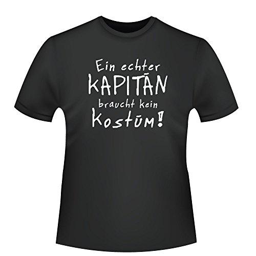 Kapitän Kostüm, Herren T-Shirt - Fairtrade - ID104445 Schwarz
