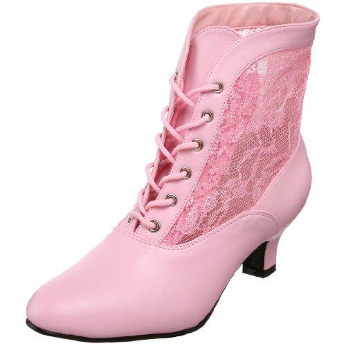 Heels Club Damen Dame05/B/Pu Stiefeletten, Rosa(Baby Pink), 39 EU