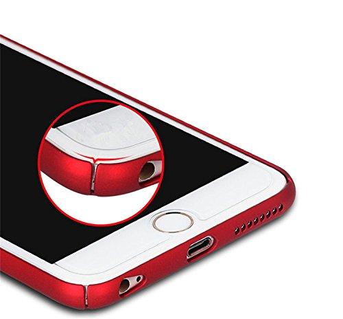 iPhone 7 Plus Coque de Protection, Wouier® Ultra Slim Léger Durable Case Anti-Rayures Premium Fini Mat Très Mince Entouré Coque pour iPhone 7 Plus red