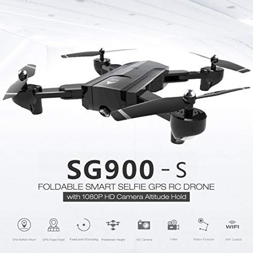 ToGames-DE SG900-S RC Faltbare Smart Selfie GPS Drohne 1080P HD Kamera Höhe halten