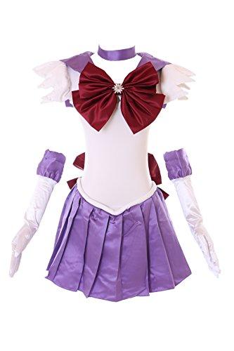 l Sailor Moon blau lila Cosplay Kleid Handschuhe Set dress Kostüm costume Kawaii-Story (XXL) (Sailor Moon Cosplay Kostüm Set)