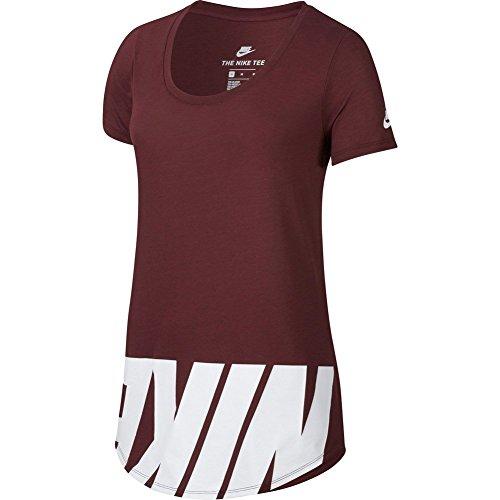Preisvergleich Produktbild Nike T-Shirt – Sportswear Advance 15 granat/weiß Größe: S (Small)