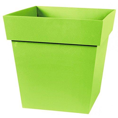 EDA Plastiques Pot TOSCANE carré 13643 V.PI SX6 Pistache 32 x 32 x 32 cm