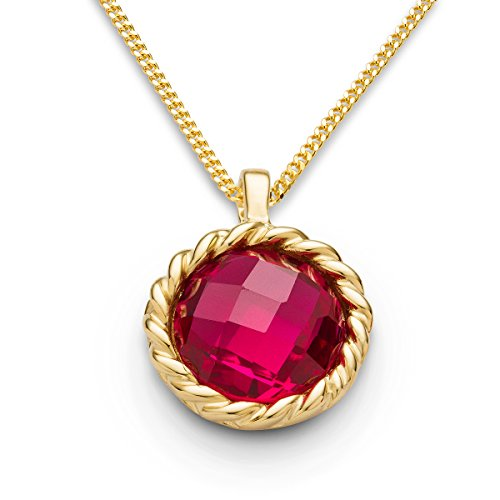 miore-ladies-9-ct-yellow-gold-round-cut-garnet-twisted-pendant-with-chain-of-45-cm