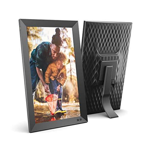 NIX 15.6 Zoll Digitaler Bilderrahmen - 1920x1080 Full HD Display, Bewegungssensor, automatischer Fotodrehung, USB- und SD-Kartensteckplätzen und Fernbedienung